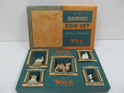 Wade Whimsies Complete Set No.8 Zoo Set Animals Boxed
