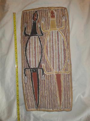 Early-Mid 20Th C? Aboriginal Bark Painting. Signed Peter?