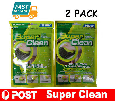 Cyber Super Clean Magic Dust Compound Slimy Gel Keyboard Cleaner Dirt 2 Pack