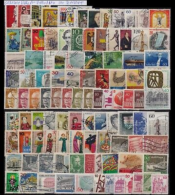 Germany Berlin Collection Of 100 Different Used Stamps. Combined Shipping