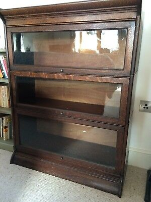 Barristers 3 Tiered Stacking Bookcase Oak Vintage
