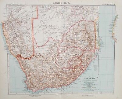 Map of Southern Africa. Original. Stieler. Perthes. TRANSVAAL CAPE COLONY