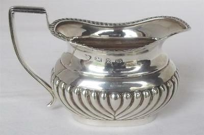 A Stunning Antique Solid Silver Victorian Cream Jug Fluted Detail Dates 1899.