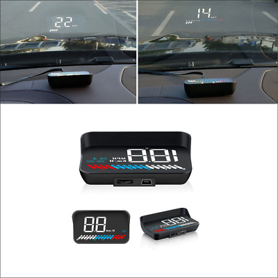 KM/H MPH Car GPS HUD Head Up Display Overspeed Warning OBD System