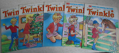 Twinkle Comics 1985/86 x 5, numbers on listing