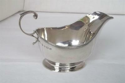 A Stunning Solid Sterling Silver Sauce Boat By Davidson Henderson & Sorley 1932.