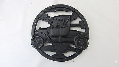 1952 Henry Ford Museum Model T Roadster Virginia Metalcrafters Cast Iron Trivet