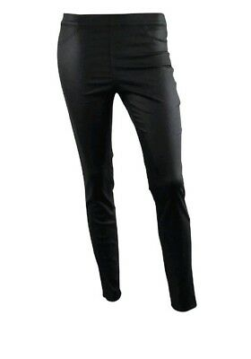 Womens Ex H&M Skinny Fit Jeggings Leather Coated Jeans Black Size 4 to 22 Ladies