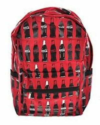 Officially Licensed Screen Printed Coca-cola Bottles On Canvas Backpack