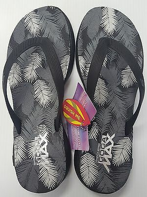 12b4c5452809 WOMENS SKECHERS H2 Goga Lagoon Sandals Flip-Flops Color Black-Gray ...
