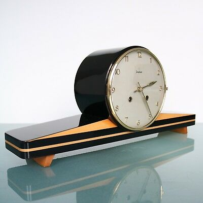 JUNGHANS Mantel Clock MULTICOLOUR Vintage HIGH GLOSS! 3 Bar Chime Germany Shelf