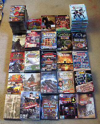 128 PC Video Games (57 Titles) Brand New In Sealed Cassettes/Boxes - See Photos
