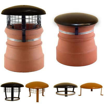 Domed Chimney Cap Clay Brown 300mm Disused Chimney Capper//Topper