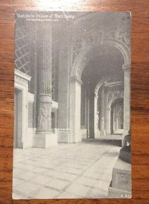 Pan Pacific exposition Vestibule Palace of Machinery Postcard