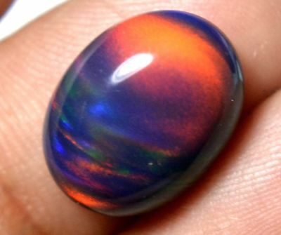 3.75 Ct Natural Solid Black Fire Opal Loose Gem AGSL Certified Beautiful stone