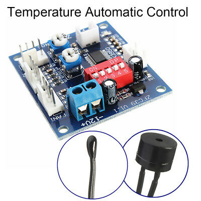 Automatic Temperature Control CPU Fan Speed DC Controller 12V PWM PC Board E Jl