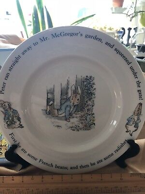 PETER RABBIT PORCELAIN CAKE PLATE By WEDGWOOD - NEW IN BOX - BEATRIX POTTER