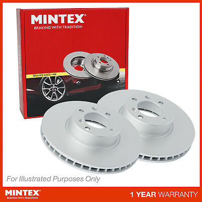 Fits BMW 5 Series E60 525d xDrive Mintex Front Coated Vented Brake Discs Set