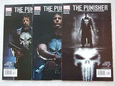 The Punisher: Official Movie Adaptaion  #1-3 Complete Set (2004)  NM