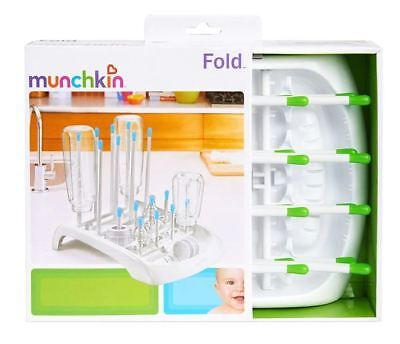 Baby Bottle Drying Rack Munchkin Fold Plastic, Color GREEN