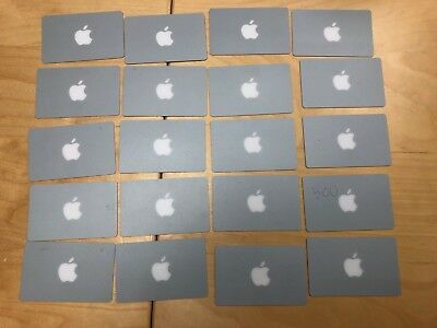 Lot of 20 Apple Gift Cards $0 balance NO VALUE Collectible Only