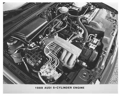 1988 Audi 5 Cylinder Engine Automobile Factory Photo ch7485