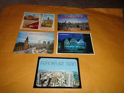 Lot Of 5 Frankfurt, Germany Post Cards....