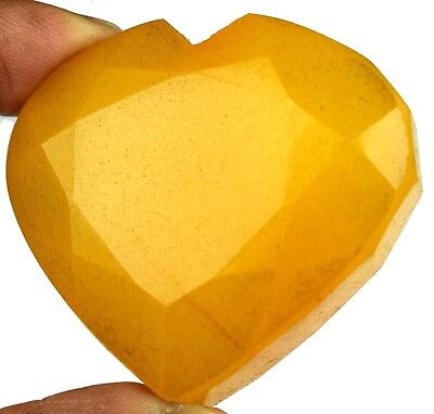 Natural Heart Shape Madagascar 307.75 Ct Yellow Sapphire Gemstone Valentine Day