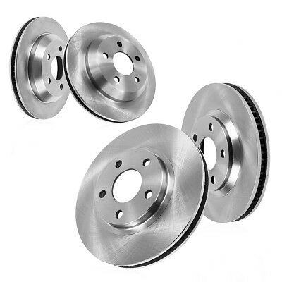2X Rear Brake Discs Rotors and 4X Ceramic Pads For BMW 528i 2008-2010 E60