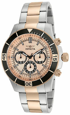 Invicta Men's 45mm Specialty Chronograph Rose Dial Stainless Steel Watch 12842