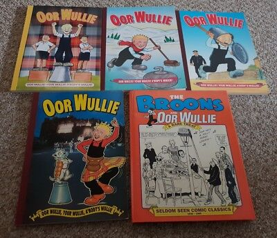Oor Wullie Annuals - 5 in Total