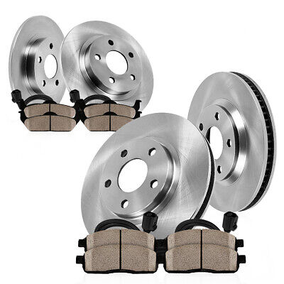 Front+Rear Drilled Slotted Brake Rotors Ceramic Pads For 2013 2014 2015 Audi Q5