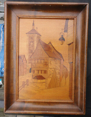 Rothenburg Marquetry Inlaid Work Wood Plonlein Germany Buchschmid Gretaux style?