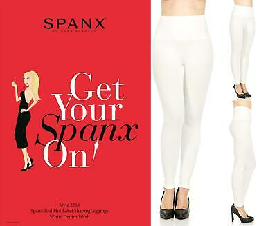 43dc2f09398f4 SPANX ASSETS RED Hot Label Shaping Leggings - 2268 White Denim Wash ...