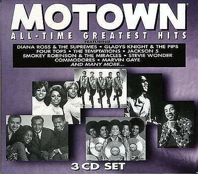 Motown All-Time Greatest Hits BRAND NEW 3 CD BOX SET