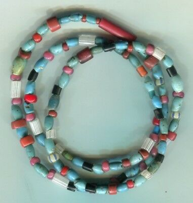 African Trade beads vintage Venetian very old cane drawn lampwork glass beads