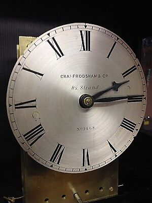 Chas. Frodsham long case clock, Movement no.1468, -------------Dated around 1880