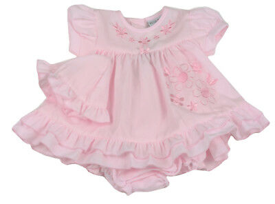 Baby Girl Clothes Dress Hat Pant set Spanish style Pink floral Newborn-6months