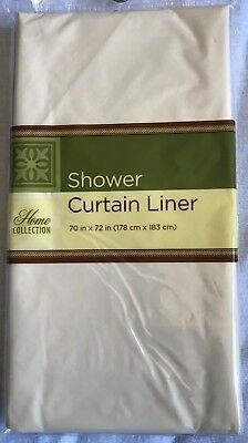 "Beige Standard Size 70"" X 72"" Waterproof Plastic Shower Curtain Magnetic Liner"
