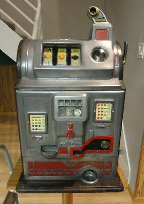 Antique Unrestored Jennings Rockola 5 Cent Slot Machine