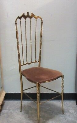 Vintage Chiavari Solid Brass Chair Hollywood Regency