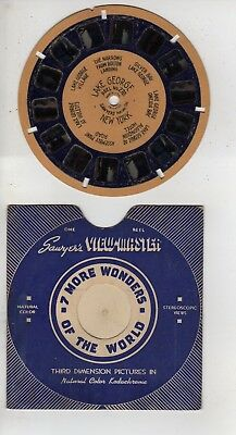 Blue Ring Viewmaster #270 Lake George New York, Hand Lettered