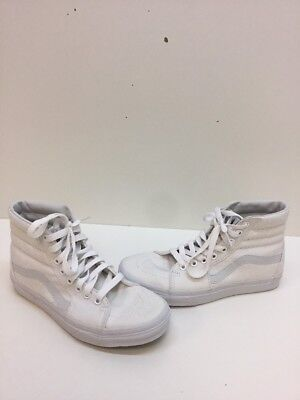 c6c61caabf53 VANS Classic SK8 HI All White Canvas Lace Up Skate Shoes Mens Size 5 Womens  6.5