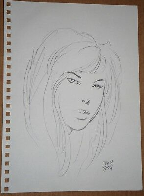 DAVID FINCH - Sketch of Mary Jane from Spiderman Comics - SIGNED!