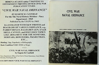 Civil War Naval Ordnance Photo Illustrated Book Parrot Dalhgren Cannon Monitors
