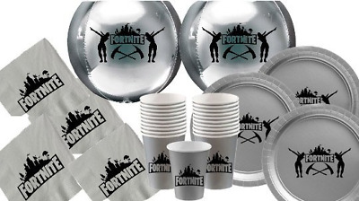 Fortnite Party,birthday pack ,Supply Drop Decoration/Party Favor,plates,cups,bal