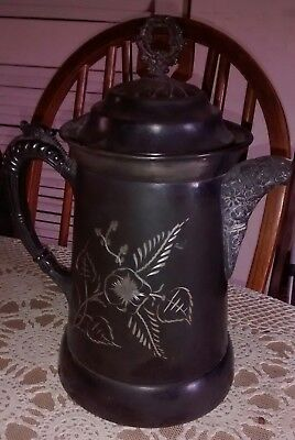 Large Antique Water Pitcher,Toothill & McBean Silver Company,Quadruple Plate 999