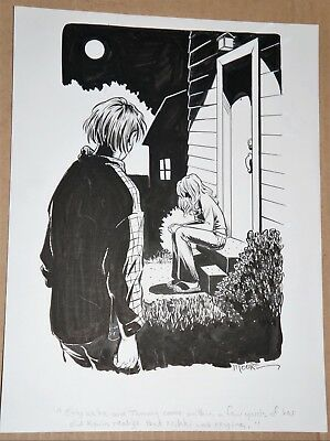 TERRY MOORE  (SIP Creator) - Rare Original Finished Book Illustration - SIGNED