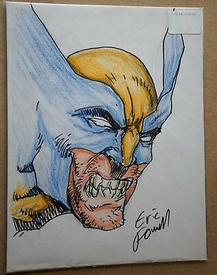 ERIC POWELL - Color Sketch of WOLVERINE - SIGNED!