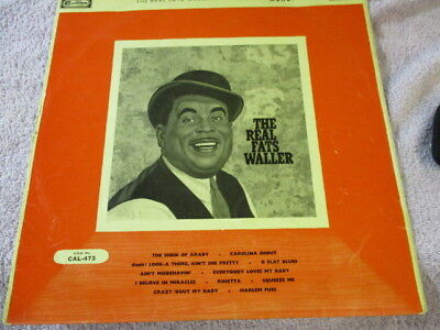 """The real Fats Waller,ungraded 12""""record,fair-good, fast post"""